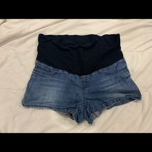 X L maternity denim shorts